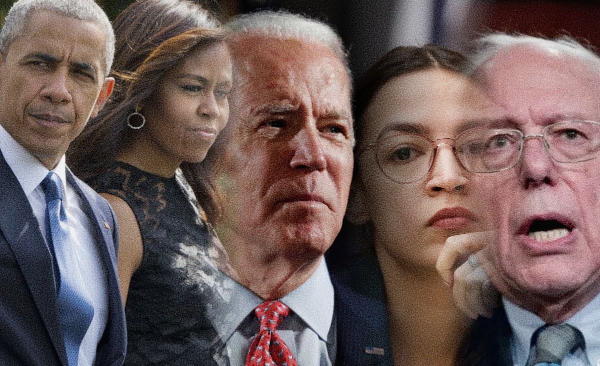 La familia obama con Joe biden, AOC y Bernie Sander - Estás leyendo if Revista Libertaria