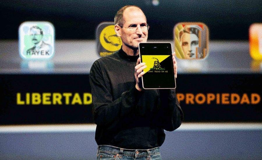Steve Jobs montaje pormoviendo libertarios en iF Revista Libertaria Cuestiona todo
