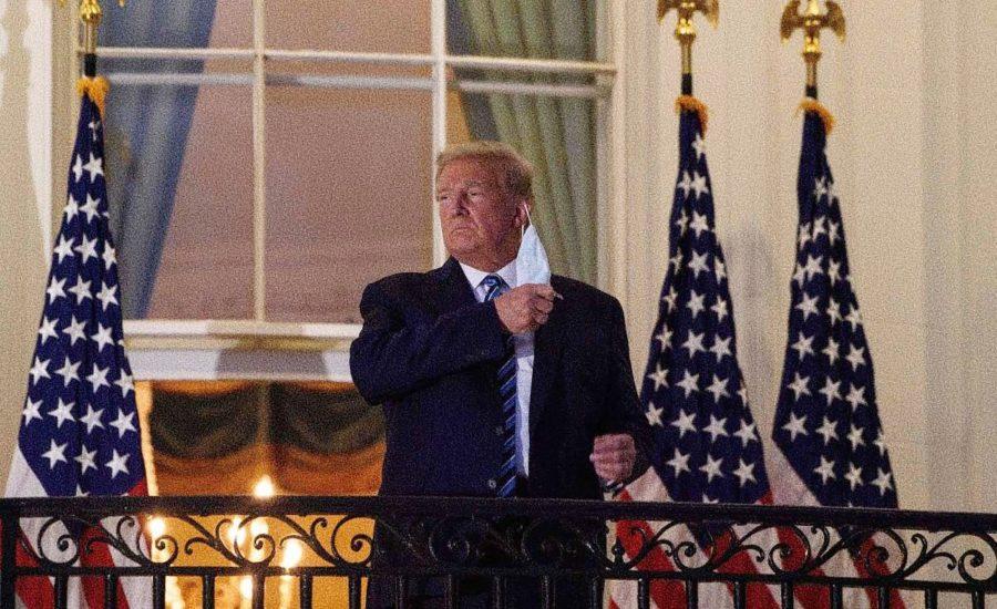 Trump quitándose el tapabocas - Estás leyendo iF Revista Libertaria - Cuestiona Todo
